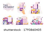 online tax payment service...   Shutterstock .eps vector #1793860405