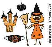 halloween 2020 stay home... | Shutterstock .eps vector #1793867365