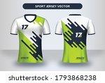 football jersey design template.... | Shutterstock .eps vector #1793868238