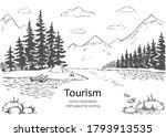 vector illustration of nature... | Shutterstock .eps vector #1793913535