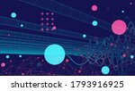 vector abstract background with ... | Shutterstock .eps vector #1793916925