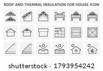roof icon consist of... | Shutterstock .eps vector #1793954242