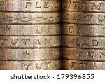 British Pound Coins  Edge On