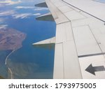 The Wing Of The Plane In The...