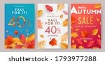 autumn sale banner  poster or... | Shutterstock .eps vector #1793977288
