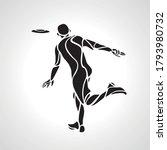 athlete throwing frisbee.... | Shutterstock .eps vector #1793980732