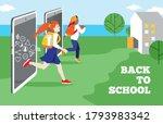 back to school  quote. happy...   Shutterstock .eps vector #1793983342