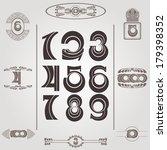 set of vintage numbers | Shutterstock .eps vector #179398352