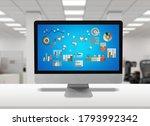 desktop computer with...