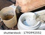 Abandoned Plastic Bowl  Vase...