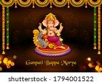 illustration of lord ganpati...   Shutterstock .eps vector #1794001522