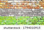 Grunge Wall Themed In Tiranga...