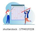 teacher explaining task.... | Shutterstock .eps vector #1794019228