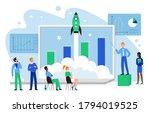 financial growth concept vector ... | Shutterstock .eps vector #1794019525