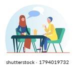 Muslim Women Meeting In Arabic...