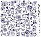science   doodles | Shutterstock .eps vector #179402045
