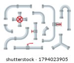 water pipes. steel and plastic...   Shutterstock .eps vector #1794023905