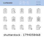 vector clipboard icon. editable ... | Shutterstock .eps vector #1794058468