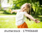 cute little girl having fun in... | Shutterstock . vector #179406668