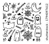 vector set of halloween clipart.... | Shutterstock .eps vector #1794097612
