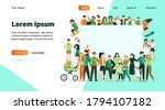 crowd of happy people with...   Shutterstock .eps vector #1794107182