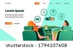 driver and passenger navigating ... | Shutterstock .eps vector #1794107608