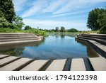 Concrete Dam And Steps With...