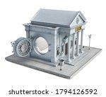 bank building with opened vault ...   Shutterstock . vector #1794126592