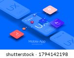 mobile application design.... | Shutterstock .eps vector #1794142198