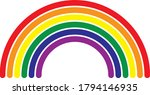 six colour rainbow with rounded ...   Shutterstock .eps vector #1794146935