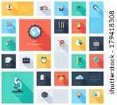 vector collection of colorful... | Shutterstock .eps vector #179418308