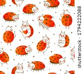 seamless pattern with cute... | Shutterstock .eps vector #1794222088