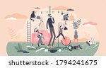 fatherhood parenting scene with ... | Shutterstock .eps vector #1794241675