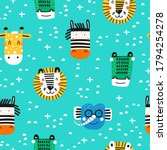childish seamless pattern with... | Shutterstock .eps vector #1794254278
