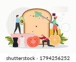 restaurant chefs tiny male... | Shutterstock .eps vector #1794256252