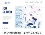 job search landing page.... | Shutterstock .eps vector #1794257578