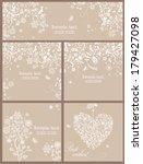 beautiful pastel invitations | Shutterstock .eps vector #179427098