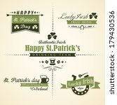 vector set of saint patrick's... | Shutterstock .eps vector #179430536