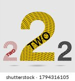 Two  Numeral And Word Logo For...