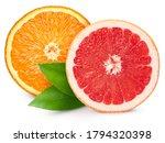 Grapefruit And Orange Half...