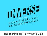 negative space style font ... | Shutterstock .eps vector #1794346015