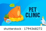 fat cat with thought speech... | Shutterstock .eps vector #1794368272