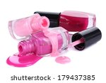 open bottles with bright nail... | Shutterstock . vector #179437385