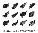 feather and wings icon set over ... | Shutterstock .eps vector #1794379072