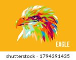 an eagle watching his prey | Shutterstock .eps vector #1794391435
