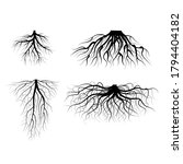 silhouette black tree roots... | Shutterstock .eps vector #1794404182