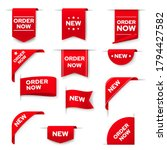 order now red vector banners ... | Shutterstock .eps vector #1794427582