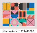 abstract geometric pattern... | Shutterstock .eps vector #1794443002