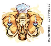 vector image of an elephant... | Shutterstock .eps vector #1794446332