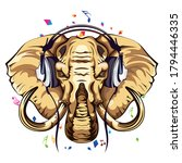 vector image of an elephant... | Shutterstock .eps vector #1794446335